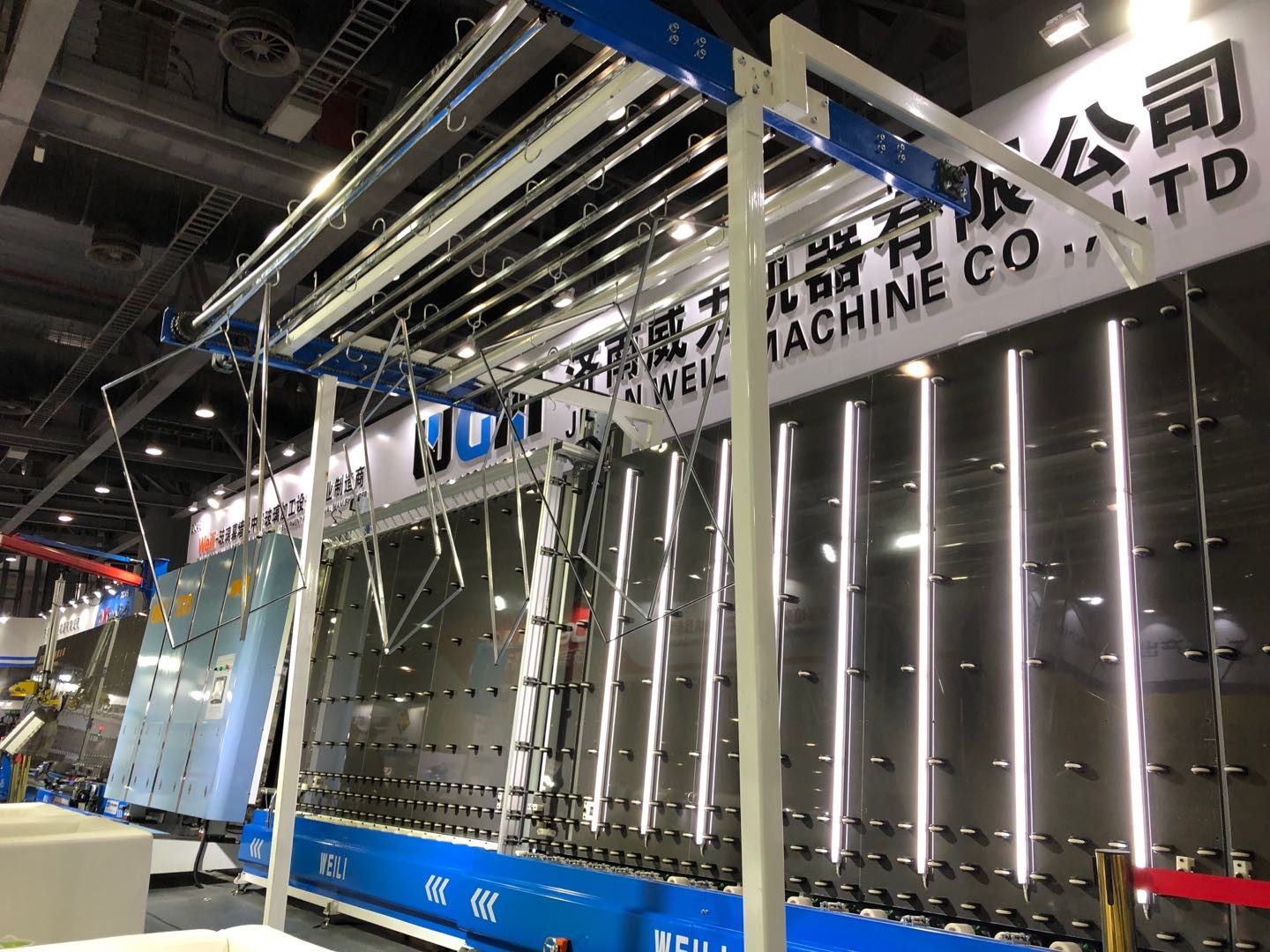 CE / UL Window Double Glass Machine Vertical Flat Pressing Production Line